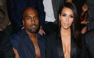 Kanye West et Kim Kardashian, au défilé Lanvin, à Paris, le 25 septembre 2014.