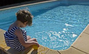 Une piscine privée (illustration)