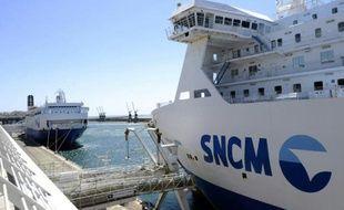 Logo de la SNCM, le 20 mai 2015, à Marseille