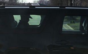 Le président des Etats-Unis, Barack Obama, dans sa voiture, le 6 avril 2013, dans le Maryland.