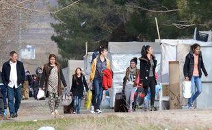 Des réfugiés yazidis dans un centre de réfugiés à Diyarbakir, en Turquie, le 3 janvier 2017.