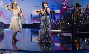 La chanteuse Zaz aux Victoires de la musique, le 14 février 2014, au Zenith de Paris.
