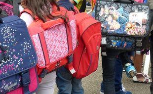 Lyon, Le 1 er septembre 2015. A l'école Meynis, dans le 3e arrondissement, lors de la rentrée des classes
