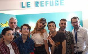 Bilal Hassani en visite au Refuge de Nice