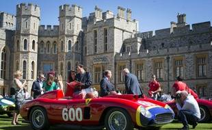 Une Ferrai 290 MM devant le château de Windsor, le 7 septembre 2012