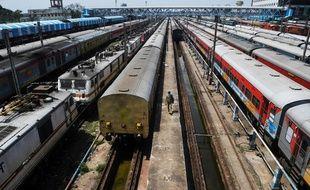 Une gare indienne (ici Kokalta) pendant la crise du coronavirus.
