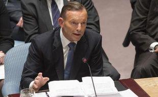 Le Premier ministre australien Tony Abbott lors de l'Assemblée générale de l'Onu le 24 septembre 2014 à New York
