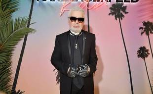 Karl Lagerfeld à la Fashion Week, Paris, 2 octobre