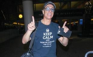 Jean-Claude Van Damme à l'aéroport de Los Angeles (Etats-Unis), le 18 octobre 2017.