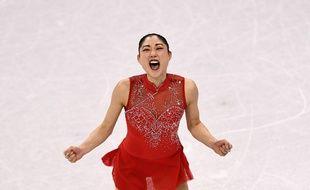 L'Américaine Mirai Nagasu lors de l'épreuve de patinage par équipe des JO de Pyeongchang, le 12 février 2018.
