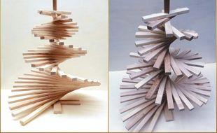Le sapin conçu par Gueules de bois mesure environ un mètre de haut.
