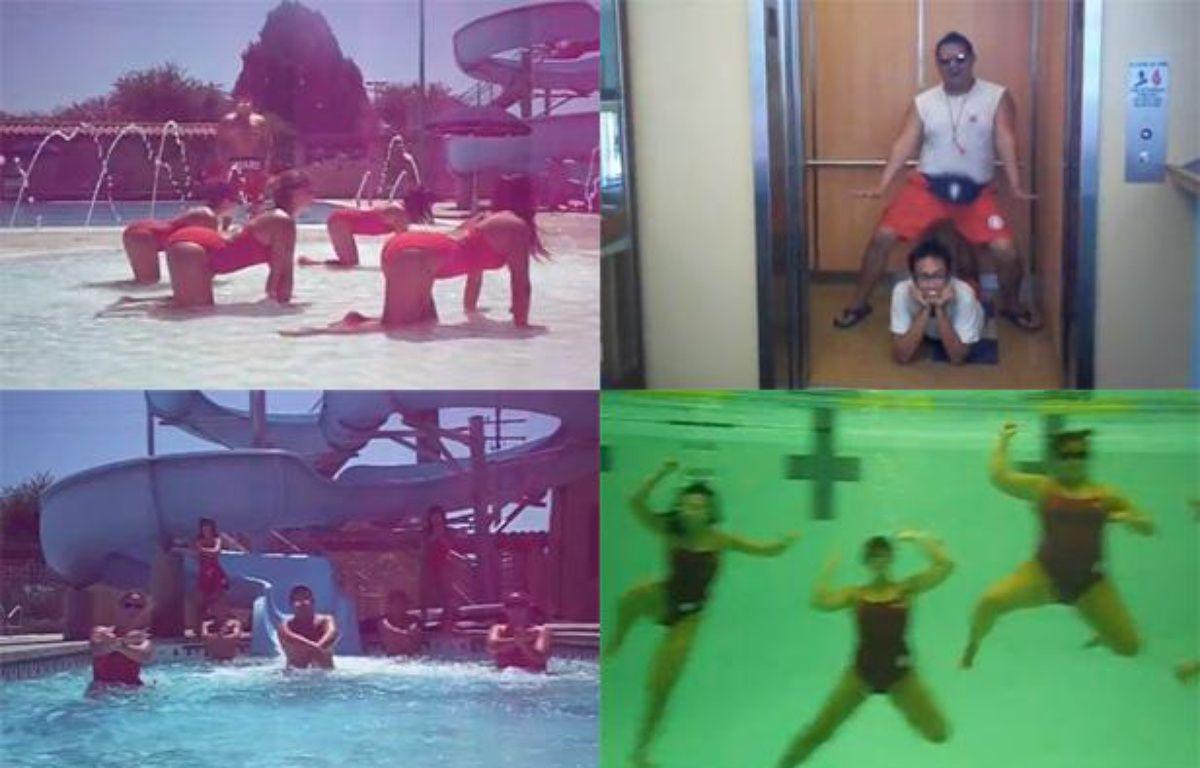 Captures d'écran de la vidéo «Lifeguard Style», hommage à «Gangnam Style» qui a coûté leur job à 14 secouristes californiens. – 20 MINUTES