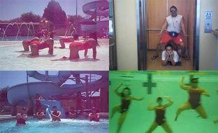 Captures d'écran de la vidéo «Lifeguard Style», hommage à «Gangnam Style» qui a coûté leur job à 14 secouristes californiens.