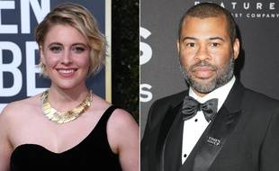 Greta Gerwig et Jordan Peele, nommés dans la catégorie «meilleur réalisateur» aux Oscars 2018.