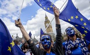 Des militants pro-UE défilent à Londres le 9 septembre 2017.