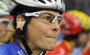 Jeannie Longo, en septembre 2009, lors des championnats du monde de Mendrisio (italie).