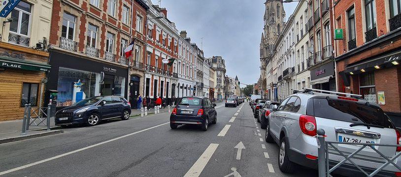 La rue Solférino, à Lille.