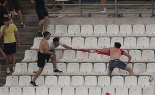Des heurts ont éclaté entre Russes et Anglais, le 11 juin 2016 au Vélodrome à Marseille.