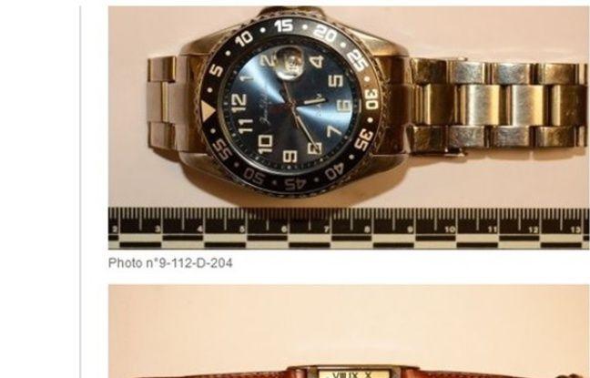De nombreux bijoux et montres montres volés sont visibles sur le site. -
