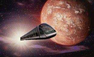 Des lycéens vous proposent de prendre un tram pour Mars