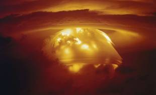 Illustration d'une explosion thermonucléaire.