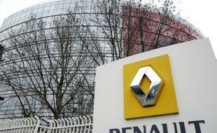 Le siège de Renault le 18 janvier 2015 à Boulogne-Billancourt