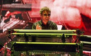 Jean-Michel Jarre, lors du festival de musique américain Coachella, en avril 2018.