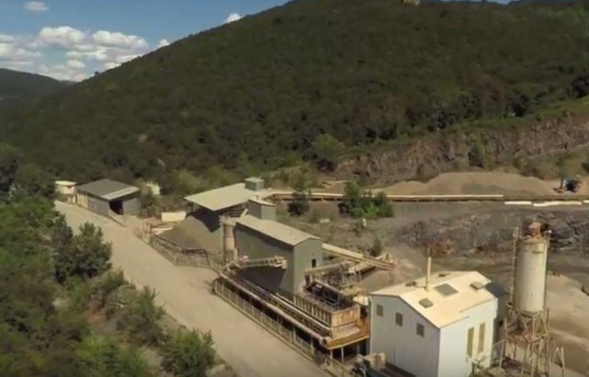 Une des anciennes mines, dans le Gard. – Capture d'écran