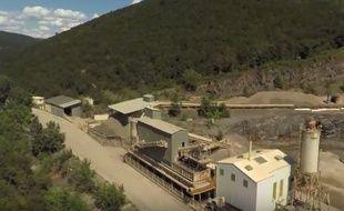 Une des anciennes mines, dans le Gard.