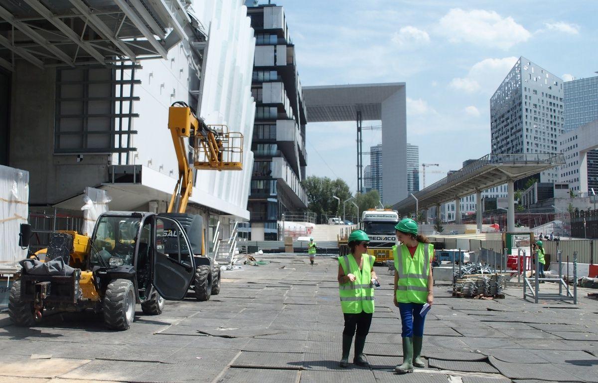 Nanterre, le 20 juin 2017. Les abords de la salle U Arena seront entièrement piétons. – C.ANGER