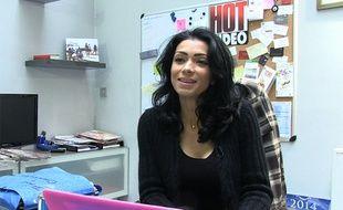 Tabatha Cash dans les locaux de «Hot Vidéo», en octobre 2014 à Paris