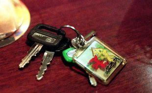 Illustration clés de voiture.