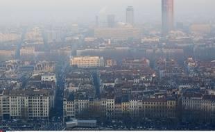 La ville de Lyon est régulièrement touchée par des épisodes de pollution comme en décembre 2013.