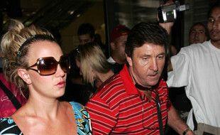 La chanteuse Britney Spears et son père, Jamie