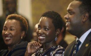 L'actrice Lupita Nyong'o lors d'une conférence de presse sur le braconnage des éléphants, le 30 juin 2015, à Nairobi au Kenya