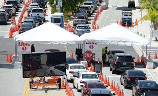 Un centre de dépistage Covid en Floride le 2 juillet 2020.