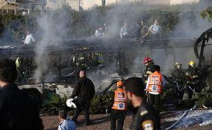 Plusieurs personnes ont été blessées lors de l'explosion du bus.