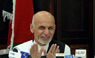 Ashraf Ghani, candidat à la présidentielle afghane, s'exprime lors d'une conférence de presse le 5 juillet 2014 à Kaboul