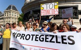 Manifestation contre les violences faites aux femmes, Paris le 6 juillet 2019.