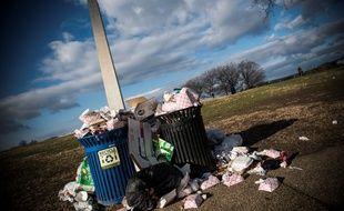 A cause du «shutdown», les poubelles ne sont plus ramassées dans le parc du National Mall, à Washington, ici le 24 décembre 2018.