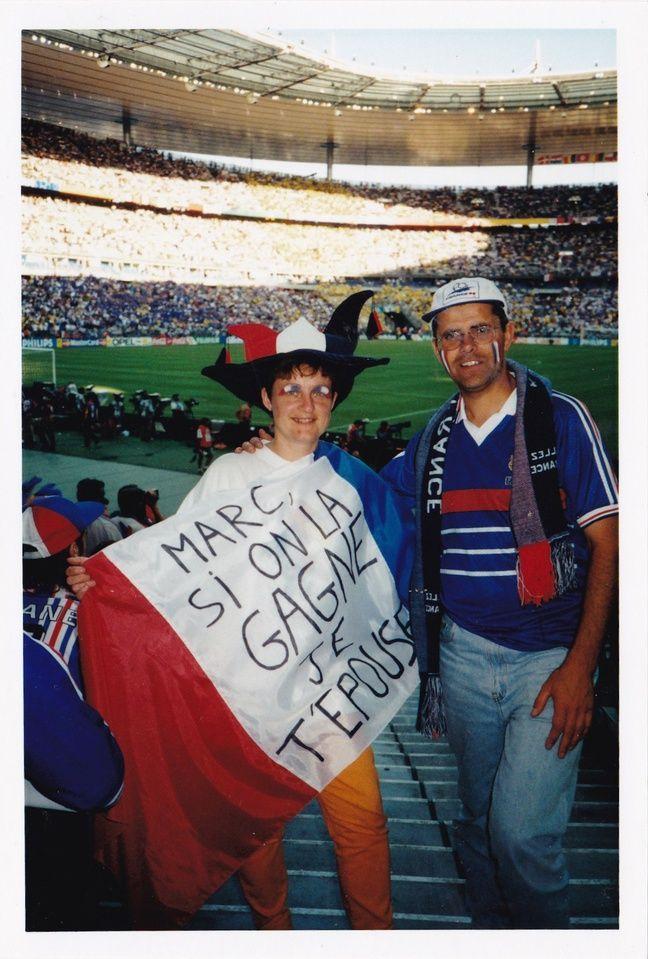 Catherine et Marc le 12 juillet 1998.