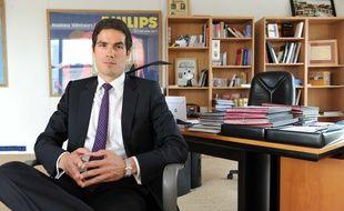 Mathieu Gallet, dans son bureau à l'Institut national de l'audiovisuel (INA) en 2010.