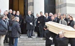 Les obsèques du journaliste, animateur de télévision et animateur de radio français Philippe Gildas ont eu lieu au cimetière du Père-Lachaise à Paris, France, le 5 novembre 2018.