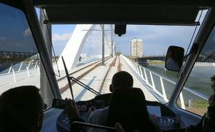 Inauguration du tram transfrontalier entre Strasbourg et Kehl en Allemagne. Le 28 avril 2017