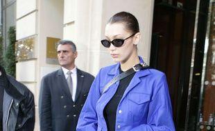 Bella Hadid le 3 octobre à Paris.