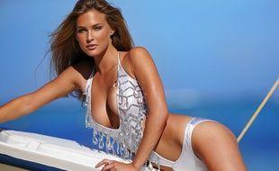 L'une des photos du shooting de Bar Rafaeli pour Victoria's Secret, en 2005, quand elle avait été jugée trop grosse par la marque de lingerie.