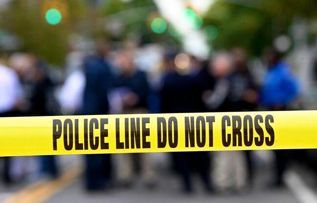 648x415 ruban jaune police americaine image illustration