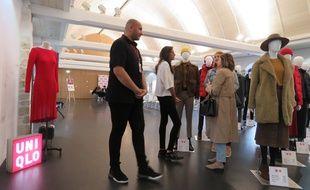 Avant l'ouverture de son magasin en septembre, Uniqlo a installé un showroom mardi au Couvent des Jacobins à Rennes.