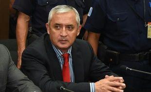 Le président démissionnaire guatémaltèque Otto Pérez au tribunal de Guatemala City, le 3 septembre 2015
