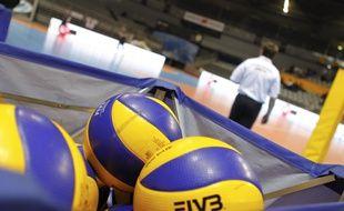 Illustration de ballons de volley.